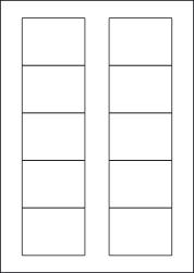 Paper Labels, 10 White Labels Per Sheet, 70 x 52mm, LP10/70