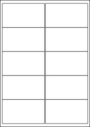 Paper Labels, 10 White Labels Per Sheet, 99.1 x 57mm, LP10/99
