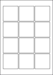 Paper Labels, 12 Square Labels Per Sheet, 60 x 60mm, LP12/60SQ