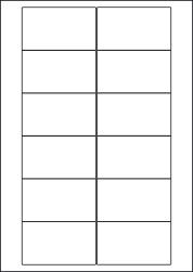 Paper Labels, 12 White Labels Per Sheet, 76.2 x 46.4mm, LP12/76