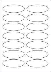 Paper Labels, 14 Oval Labels Per Sheet, 95 x 34mm, LP14/95OV