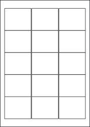 Paper Labels, 15 White Labels Per Sheet, 59 x 50.9mm, LP15/59
