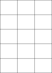 Paper Labels, 15 White Labels Per Sheet, 70 x 59.4mm, LP15/70