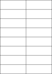 Paper Labels, 16 White Labels Per Sheet, 105 x 37.12mm, LP16/105