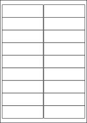 Paper Labels, 18 White Labels Per Sheet, 100 x 30mm, LP18/100