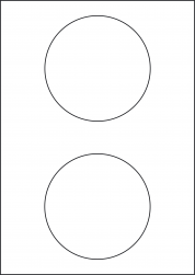 Paper Labels, 2 Round Labels Per Sheet, 114.5mm Diameter, LP2/115R