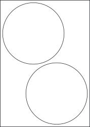 Paper Labels, 2 Round Labels Per Sheet, 144mm Diameter, LP2/144R