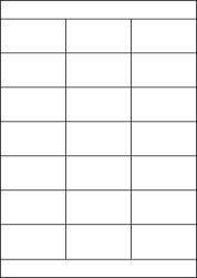 Paper Labels, 21 White Labels Per Sheet, 70 x 38.1mm, LP21/70S