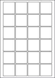 Paper Labels, 24 Square Labels Per Sheet, 45 x 45mm, LP24/45SQ