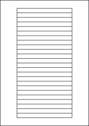 Paper Labels, 24 White Labels Per Sheet, 134 x 11mm, LP24/134