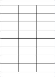 Paper Labels, 24 White Labels Per Sheet, 70 x 34mm, LP24/70LS