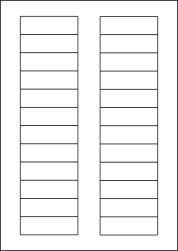 Paper Labels, 24 White Labels Per Sheet, 72 x 21.15mm, LP24/72