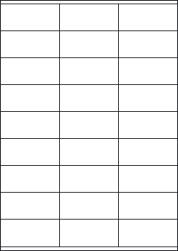 Paper Labels, 27 White Labels Per Sheet, 70 x 31.95mm, LP27/70S
