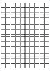 Paper Labels, 270 White Labels Per Sheet, 17.8 x 10mm, LP270/18