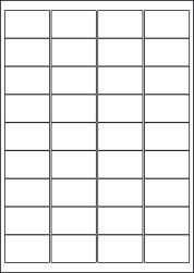 Paper Labels, 36 White Labels Per Sheet, 48.9 x 29.6mm, LP36/49