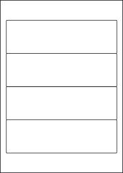 Paper Labels, 4 White Labels Per Sheet, 192 x 62mm, LP4/192