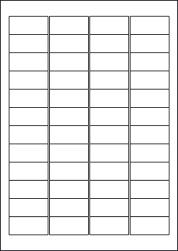 Paper Labels, 48 White Labels Per Sheet, 45.7 x 21.2mm, LP48/45