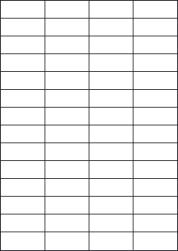 Paper Labels, 56 White Labels Per Sheet, 52.5 x 21.21mm, LP56/52