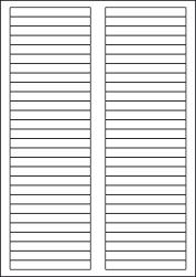 Paper Labels, 56 White Labels Per Sheet, 89 x 10mm, LP56/89