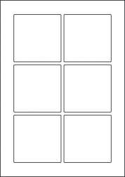 Paper Labels, 6 Square Labels Per Sheet, 80 x 80mm, LP6/80SQ