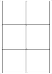 Paper Labels, 6 Square Labels Per Sheet, 95 x 95mm, LP6/95SQ