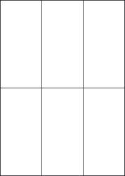 Paper Labels, 6 White Labels Per Sheet, 70 x 148.5mm, LP6/70