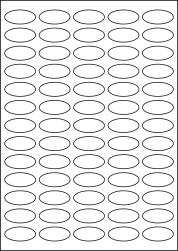 Paper Labels, 65 Oval Labels Per Sheet, 35.05 x 16mm, LP65/35OV