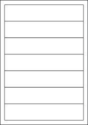 Paper Labels, 7 White Labels Per Sheet, 192 x 39mm, LP7/192