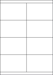 Paper Labels, 8 White Labels Per Sheet, 105 x 70.7mm, LP8/105S