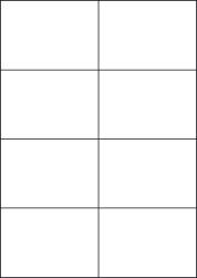 Paper Labels, 8 White Labels Per Sheet, 105 x 74.25mm, LP8/105