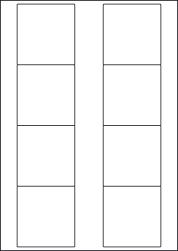 Paper Labels, 8 White Labels Per Sheet, 70 x 71.8mm, LP8/71