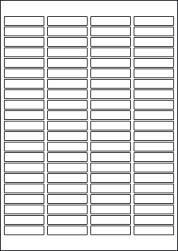Paper Labels, 84 White Labels Per Sheet, 46 x 11.1mm, LP84/46