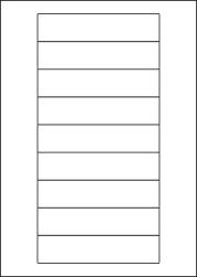 Paper Labels, 9 White Labels Per Sheet, 133 x 29.6mm, LP9/133