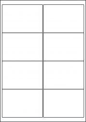 Paper Labels; Address Labels, 8 Per Sheet, 99.1 x 67.7mm, LP8/99