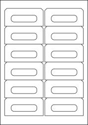 Paper Labels; Audio Cassette, 12 Per Sheet, 89 x 42mm, LP12/89