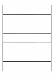 Polyethylene Waterproof Labels, 63.5 x 38.1mm, LP21/63 MWPE