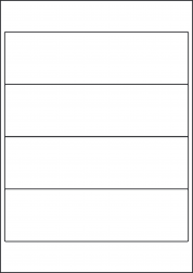 Polyolefin Waterproof Labels, 200 x 60mm, LP4/200 MWPO