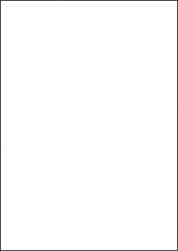 Red Labels, 1 Per Sheet, 210 x 297mm