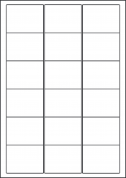 Red Labels, 18 Per Sheet, 63.5 x 46.6mm