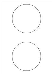 Removable Labels, 2 Round Labels 114.5mm Diameter, LP2/115R REM
