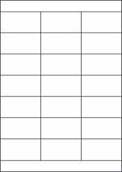 Removable Labels, 21 Per Sheet, 70 x 38.1mm, LP21/70S REM