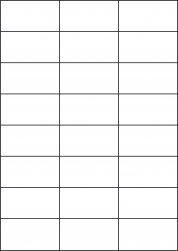 Removable Transparent Labels, 24 Labels, 70 x 37.12mm, LP24/70 GTR