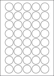 Round Blue Labels, 40 Per Sheet, 32mm Diameter