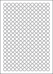 Round Photo Gloss Labels, 13mm Diameter, LP216/13R GWPQ