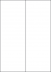 Water Wash Off Labels, 2 Per Sheet, 105 x 297mm, LP2/105 WW