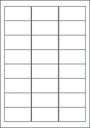 Water Wash Off Labels, 24 Per Sheet, 63.5 x 33.9mm, LP24/63 WW