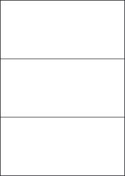 Water Wash Off Labels, 3 Per Sheet, 210 x 99mm, LP3/210 WW