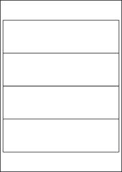 Water Wash Off Labels, 4 Per Sheet, 200 x 60mm, LP4/200 WW