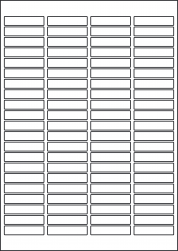 White Waterproof Removable Labels, 46 x 11.1mm, LP84/46 MWR