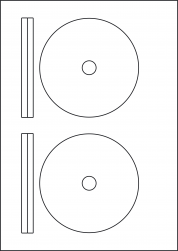 Yellow CD & DVD Labels, 2 Per Sheet, 117mm Diameter